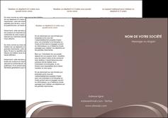 realiser depliant 3 volets  6 pages  web design texture contexture structure MLGI94850