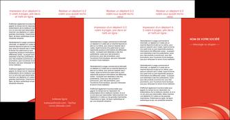 personnaliser modele de depliant 4 volets  8 pages  web design texture contexture structure MLGI95016
