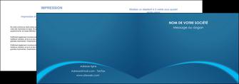 modele depliant 2 volets  4 pages  web design texture contexture structure MLGI95112