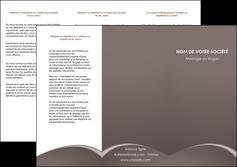 realiser depliant 3 volets  6 pages  web design texture contexture structure MID95250