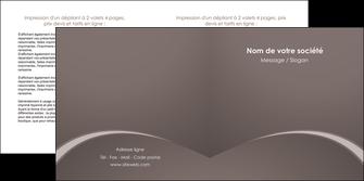 faire depliant 2 volets  4 pages  web design texture contexture structure MID95254