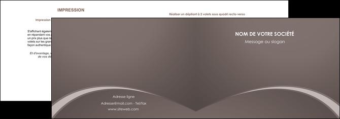 cree depliant 2 volets  4 pages  web design texture contexture structure MLGI95270