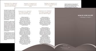 faire depliant 4 volets  8 pages  web design texture contexture structure MID95290