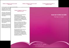 realiser depliant 3 volets  6 pages  web design texture contexture structure MLGI95302