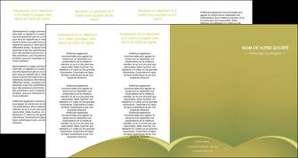 impression depliant 4 volets  8 pages  web design texture contexture structure MLGI95394