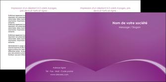 faire depliant 2 volets  4 pages  telephonie texture contexture structure MLGI95462