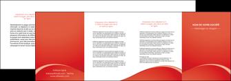 personnaliser maquette depliant 4 volets  8 pages  web design texture contexture structure MIDCH95546