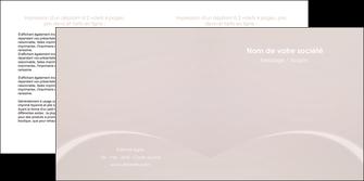 cree depliant 2 volets  4 pages  web design texture contexture structure MIF95566