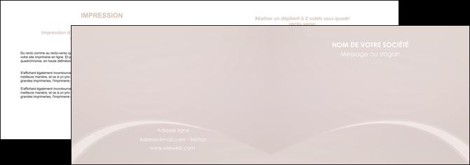 impression depliant 2 volets  4 pages  web design texture contexture structure MIF95580
