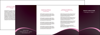 modele en ligne depliant 4 volets  8 pages  reseaux texture contexture structure MLGI95754