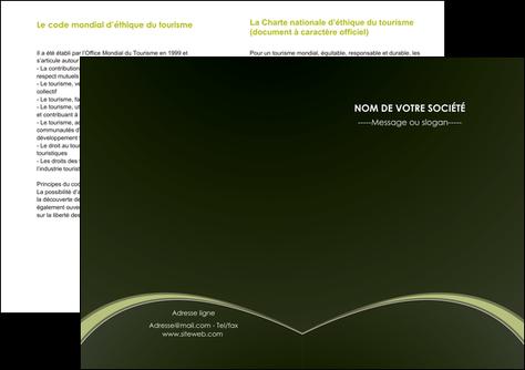 faire depliant 2 volets  4 pages  web design texture contexture structure MLGI95784