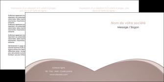 faire modele a imprimer depliant 2 volets  4 pages  texture contexture structure MLGI95982