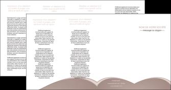 impression depliant 4 volets  8 pages  texture contexture structure MLGI96018