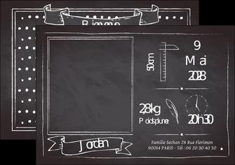 Impression Faire part  Faire Part de naissance papier à prix discount et format Flyer A5 - Paysage (21x14,8 cm)