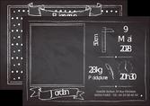 personnaliser modele de flyers ardoise fairepart naissance MLGI96346