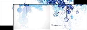 exemple depliant 2 volets  4 pages  carte de voeux 2020 voeux nouvelle annee cartes de voeux MIF97498