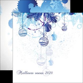 creation graphique en ligne flyers carte de voeux 2020 voeux nouvelle annee cartes de voeux MIF97500