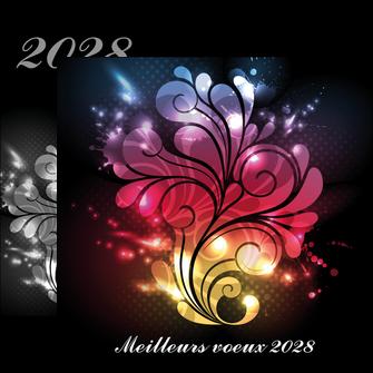 imprimerie flyers carte de voeux 2028 voeux nouvelle annee cartes de voeux MLGI98604